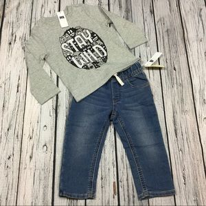 Gap Boys 18-24 M Stay Cool Shirt & Soft Jeans